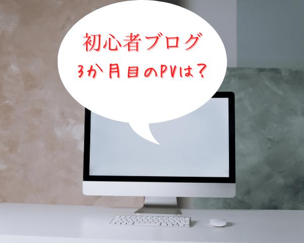 初心者ブログ3か月のPV